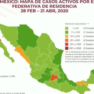 Mapa y estadísticas de coronavirus en México del 21 de abril de 2020