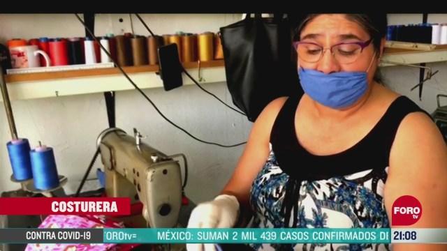 costureras hacen miles de cubrebocas ante coronavirus