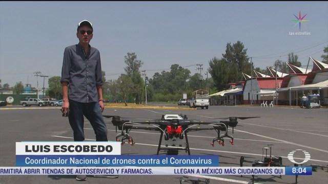 drones para prevenir mas contagios de coronavirus