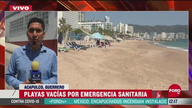 en acapulco las playas estan vacias