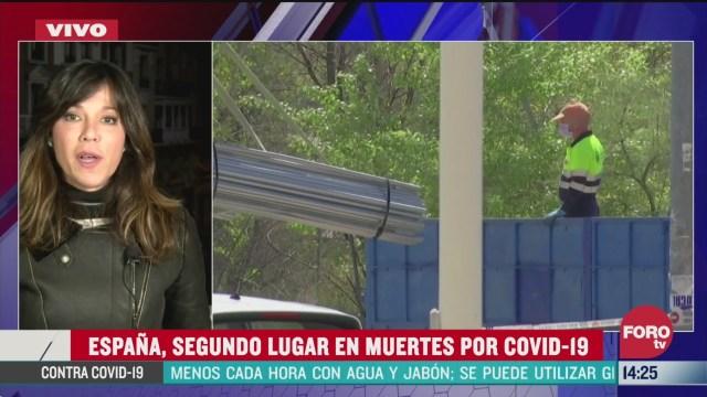 FOTO: espana es el segundo pais con mas muertos por coronavirus