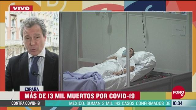 FOTO: espana registra mas de 13 mil muertos por coronavirus