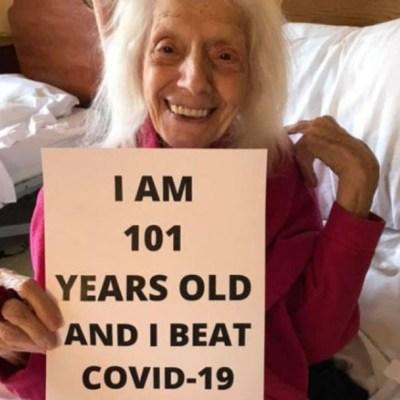 Mujer de 101 años sobrevive a gripe española, cáncer y coronavirus