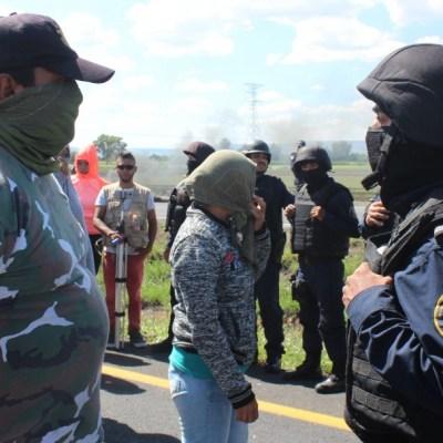 Foto: Policías retirán un bloqueo en Guanajuato. Cuartoscuro/Archivo