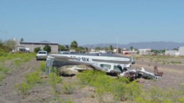 Se desploma avioneta en Culiacán; hay cuatro lesionados