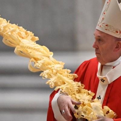 Papa Francisco celebra la misa del Domingo de Ramos sin fieles por coronavirus