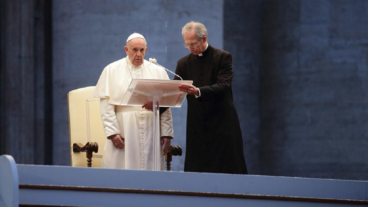 Foto: Ante coronavirus 'podemos preparar un tiempo mejor': papa Francisco, 2 de abril de 2020, (Getty Images, archivo)
