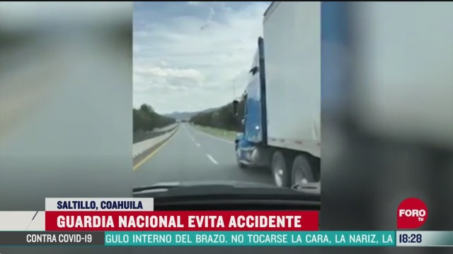 FOTO: guardia nacional evita accidente de trailer sin frenos