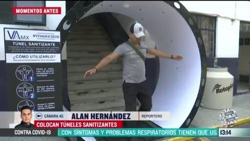 FOTO: 4 de abril 2020, instalan 10 tuneles sanitizantes en la alcaldia tlalpan