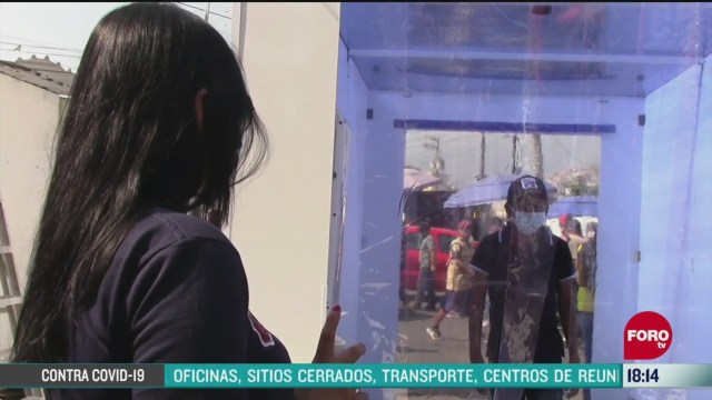 FOTO: instalan tunel sanitizador en mercados de chilpancingo