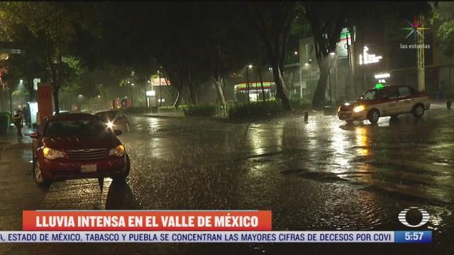 lluvias intensas dejan afectaciones en el valle de mexico