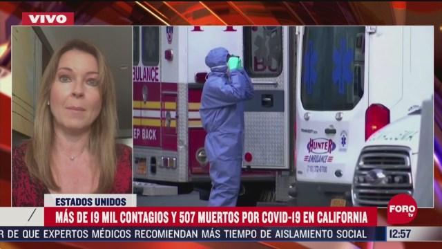 mas de 19 mil contagios y 507 muertos por coronavirus en california eeuu