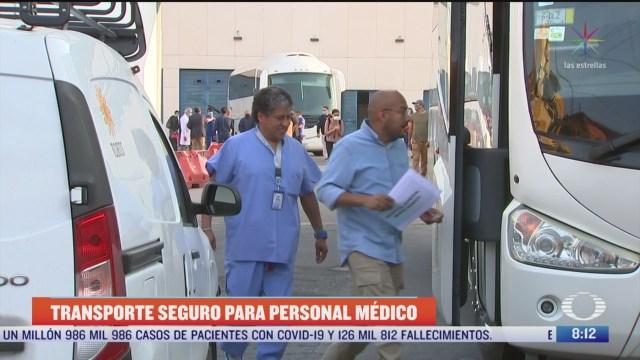 medicos y enfermeras cuentan con transporte gratuito en la cdmx