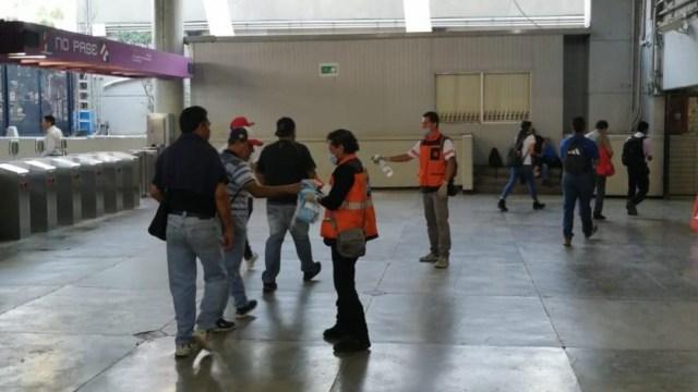 FOTO: Será obligatorio usar cubrebocas en Metro de Ciudad de México, el 15 de abril de 2020
