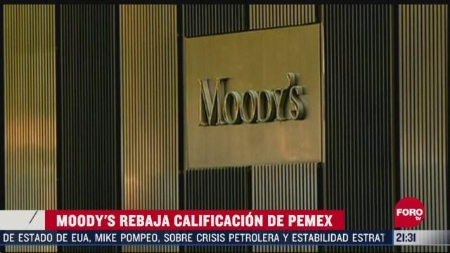 Foto: Moody's baja calificación de México y Pemex con perspectiva negativa 17 Abril 2020