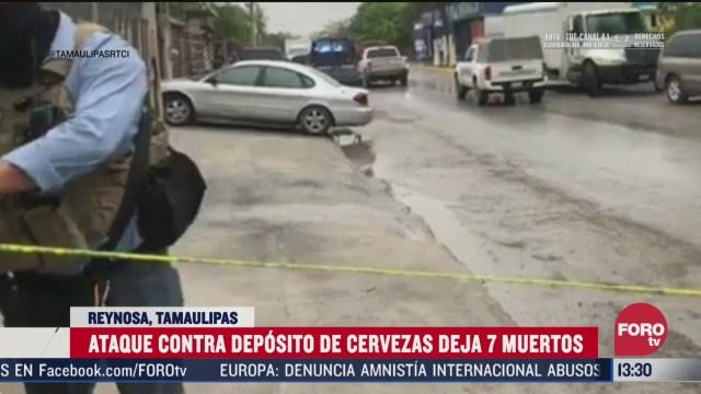 FOTO: 5 de abril 2020, mueren siete hombres tras ataque a deposito de cervezas en reynosa