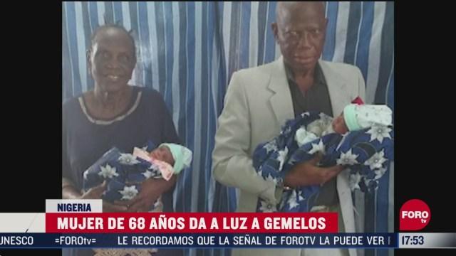 FOTO: mujer de 68 anos da a luz a gemelos en nigeria