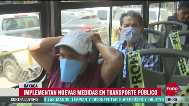 oaxaca implementa nuevas medidas de sanidad en el transporte publico