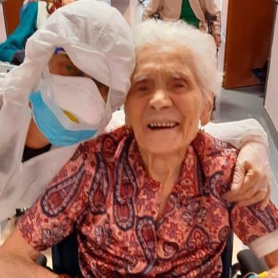 Italiana de casi 104 años se recupera de coronavirus 'con fe'