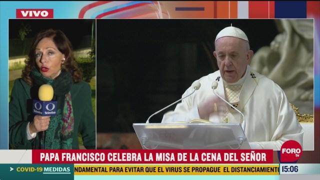 FOTO: papa francisco celebra el jueves santo