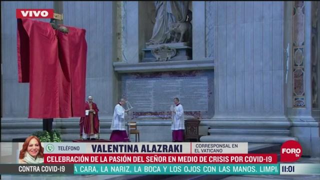 papa francisco celebra la pasion de cristo en medio de la crisis por coronavirus