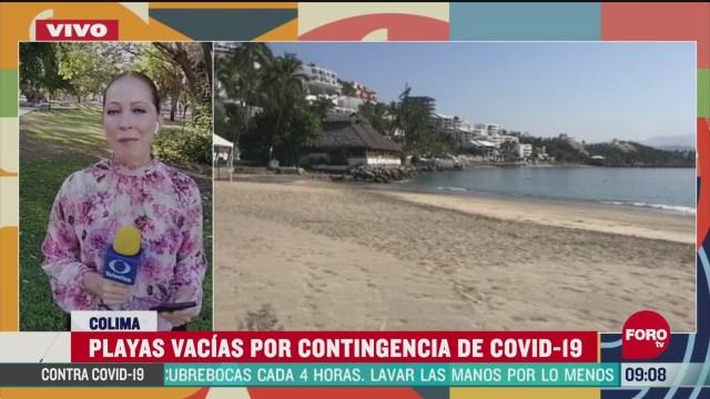 playas vacias por contingencia del coronavirus