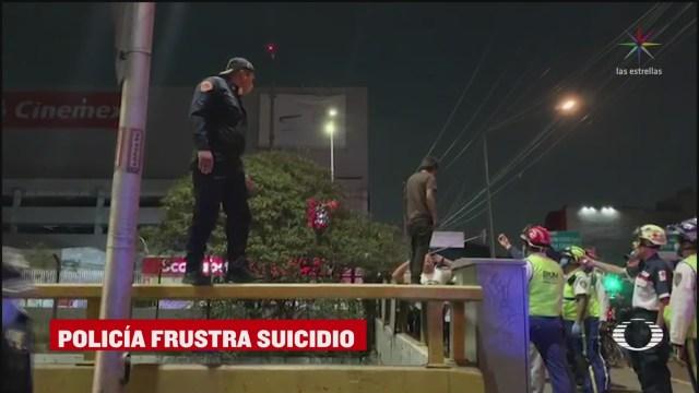 Foto: Policías capitalinos frustran intento de suicidio en alcaldía GAM 6 Abril 2020