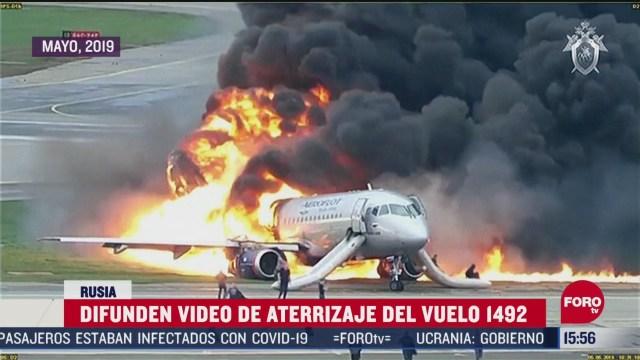 FOTO: Revelan video de accidente de avion en rusia que dejo 41 muertos
