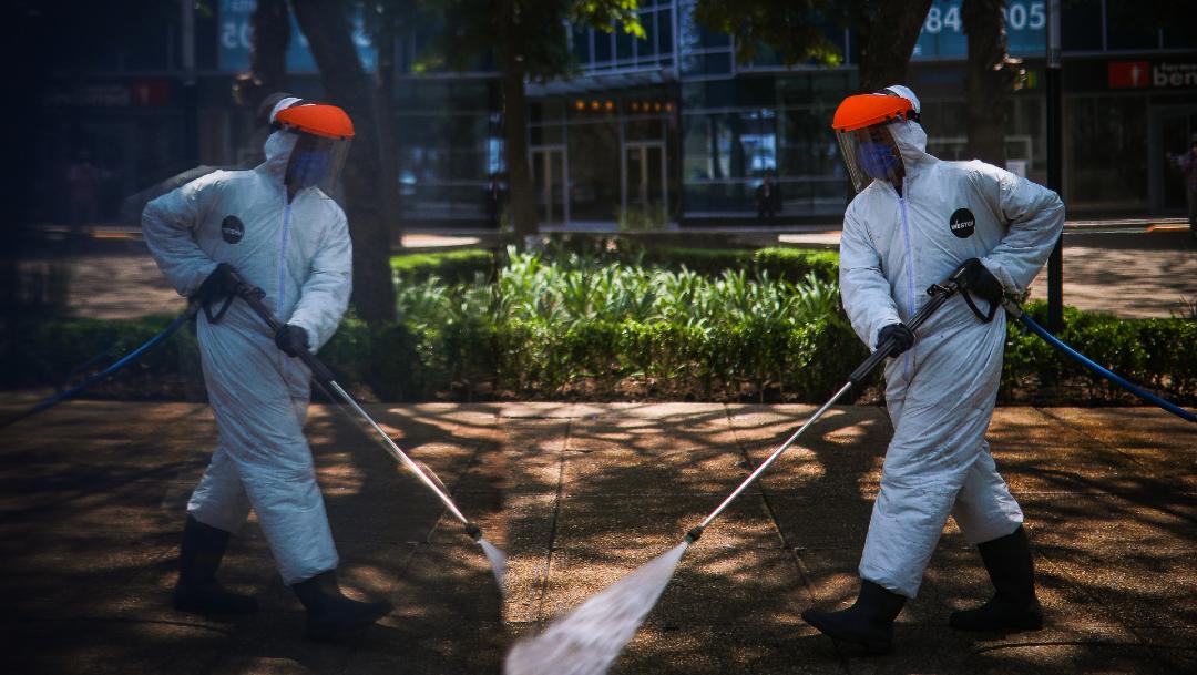 FOTO: Realizan sanitización en Campeche y Sonora para reducir contagios por coronavirus, el 25 de abril de 2020