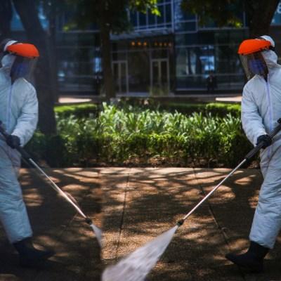 Realizan sanitización en Campeche y Sonora para reducir contagios por coronavirus