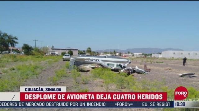 FOTO: se desploma avioneta en tierras de cultivo en culiacan sinaloa