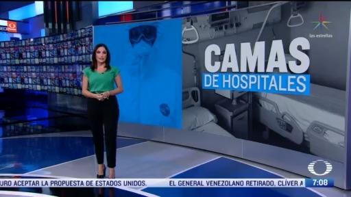 se dispone de 121 mil 435 camas en hospitales
