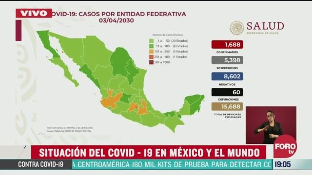 Foto: Conferencia Coronavirus Muertos Casos Confirmados México Hoy 3 Abril 3030