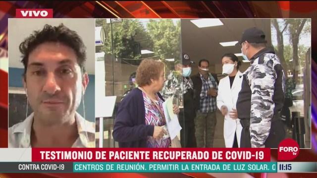 testimonio de paciente recuperado de coronavirus