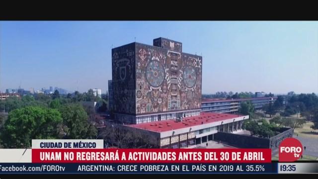 Foto: Unam No Regresará Actividades Antes 30 Abril 1 Abril 2020