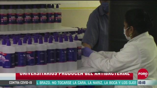 FOTO: universitarios de chilpancingo elaboran gel antibacterial