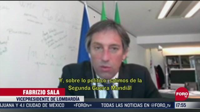 FOTO: vicepresidente de lombardia llama a tomar medidas contra coronavirus en el mundo