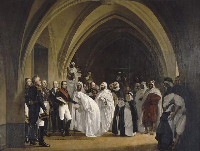 Napoleon III y Abdelkader El Djezairi, el líder militar argelino que hizo frente a la invasión francesa de Argelia.