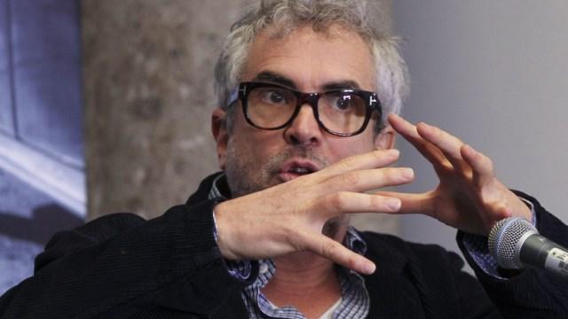 """Alfonso Cuarón en conferencia de prensa habla sobre """"Roma"""". Cuartoscuro/Archivo"""