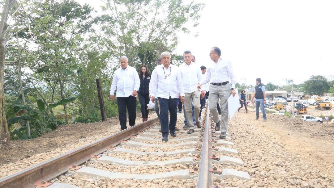 El presidente Andrés Manuel López Obrador realizó un recorrido por la zona, en donde se construirá la estación Palenque del Tren Maya. (Foto: Cuartoscuro)