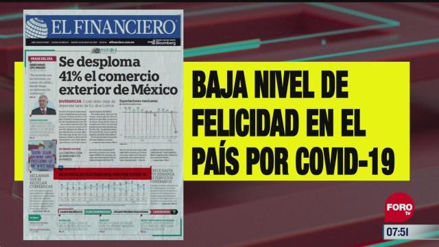 analisis de las portadas nacionales e internacionales del 26 de mayo del