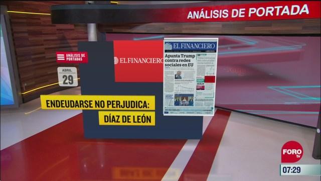 analisis de las portadas nacionales e internacionales del 29 de mayo del