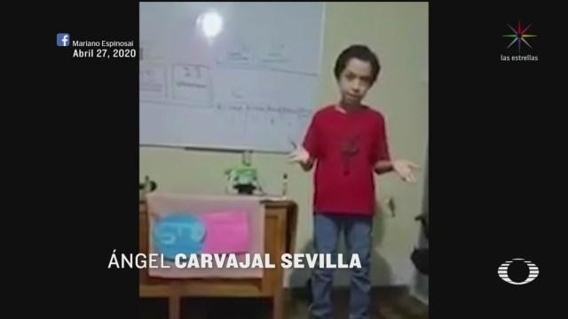Video: niño imita a Hugo López Gatell, en su conferencia