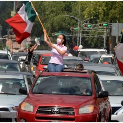 Realizan, en varios estados, caravana vehicular para pedir la renuncia de AMLO