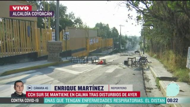 FOTO: 24 de mayo 2020, cch sur se mantiene en calma tras disturbios provocados por encapuchados