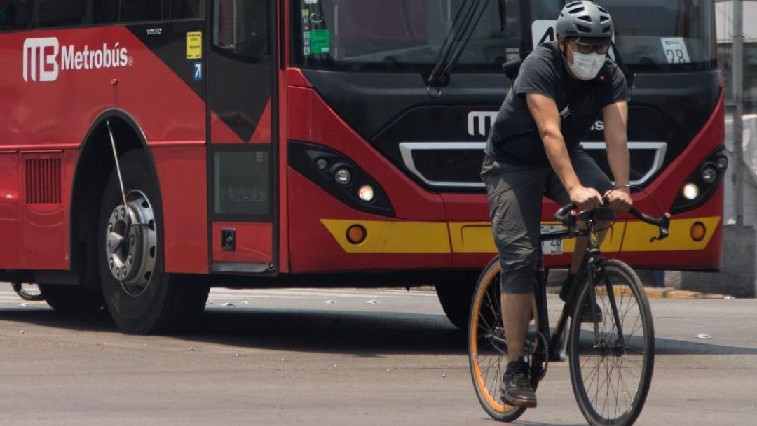 Semovi habilitará ciclovías emergentes en Insurgentes y Eje 4 Sur como parte del plan a la nueva normalidad
