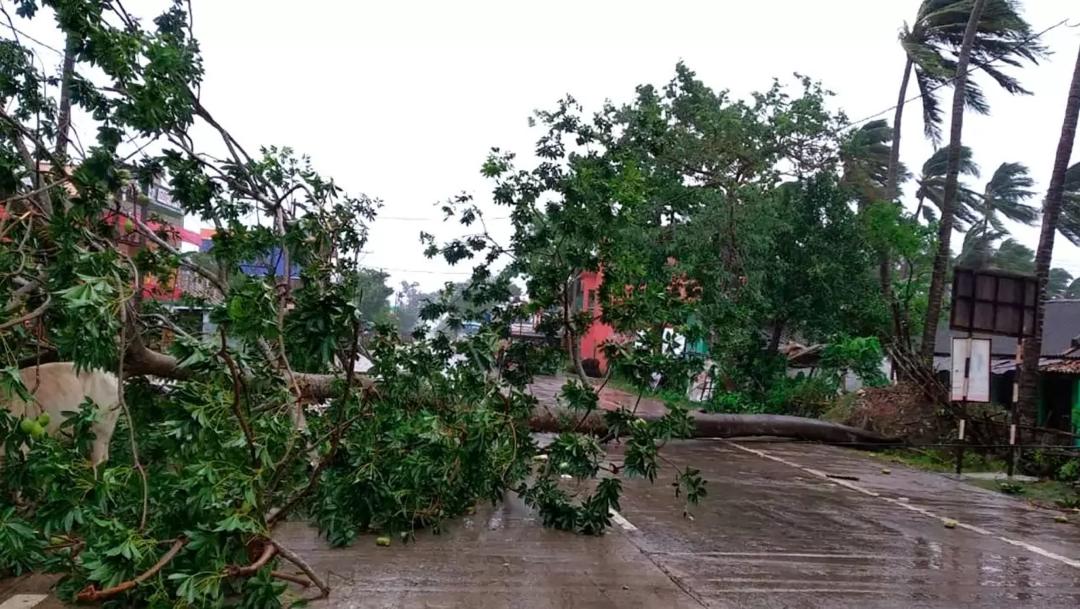 FOTO: El ciclón Amphan impacta costa oriental de la India con ráfagas de viento de 185 Km/h. el 20 de mayo de2020