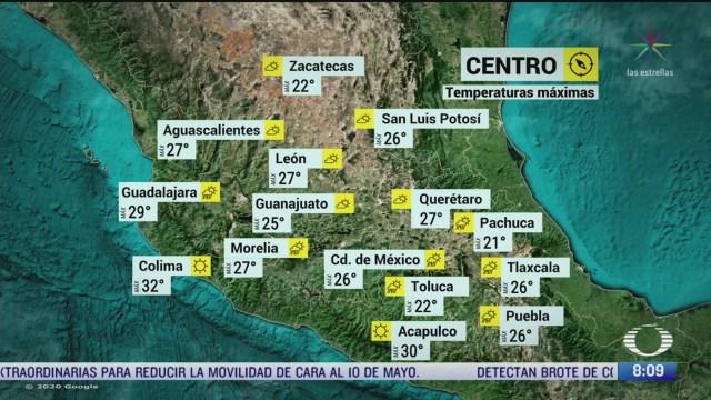 clima al aire canal de baja presion provocara lluvias en gran parte de mexico