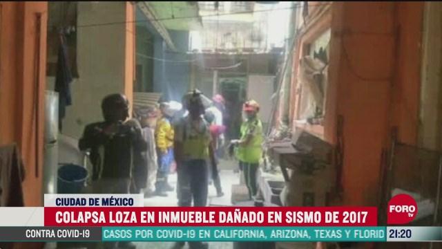 vivienda en colonia Obrera dañada por el sismo en CDMX