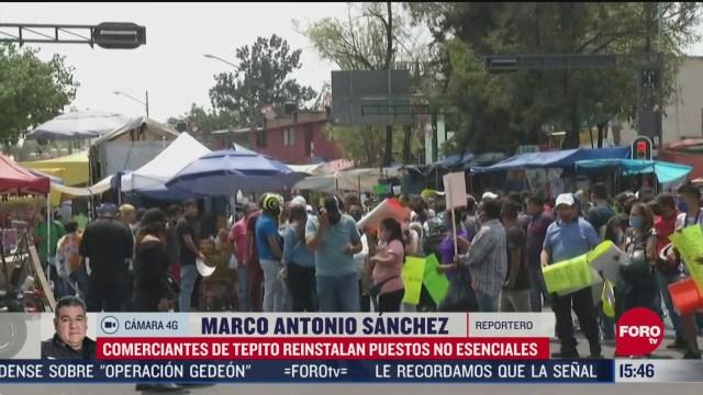FOTO: comerciantes de tepito vuelven a instalar puestos no esenciales